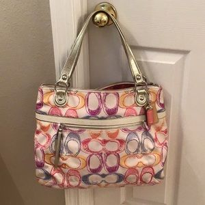 Coach Large Multicolor Tote Bag